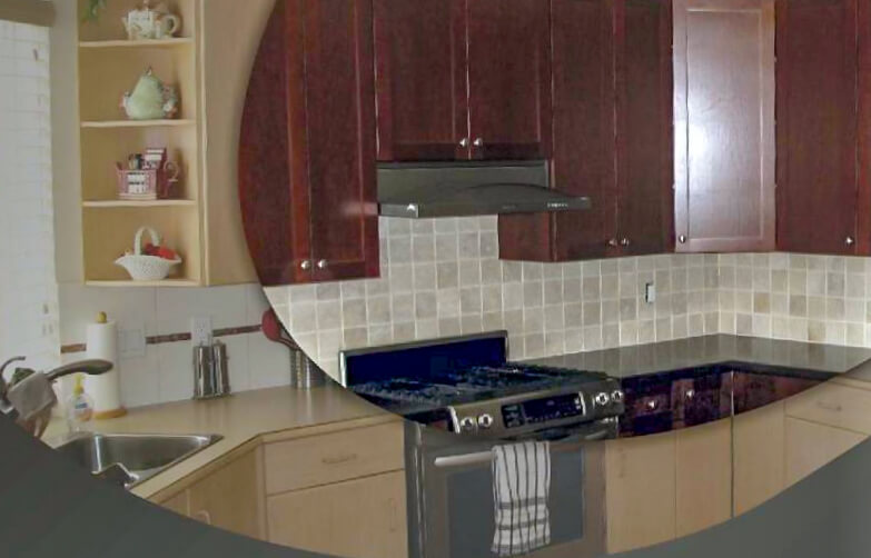 Kitchen Cabinet Refacing Before/After