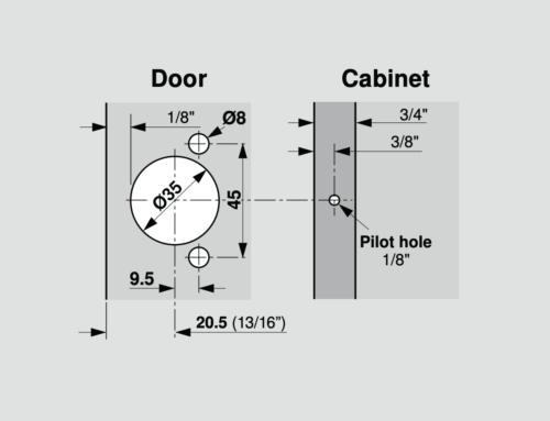 Blum 38N Boring Pattern