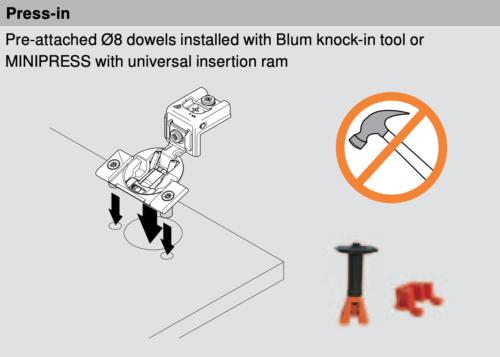 Blum 38N Press-In Mounting