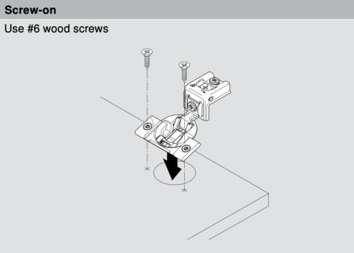 Blum 38N Screw-On Mounting