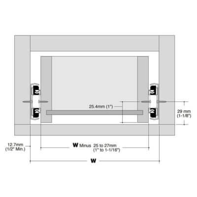 KV8400 Drawer Layout
