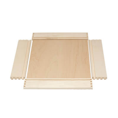 Maple Dovetail Drawer Box Unassembled
